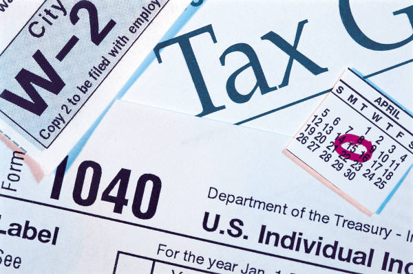 1040 tax return and w-2 form