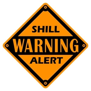 shill warning alert sign